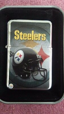 Pittsburgh Steelers Nfl   Classic Logo Refillable Cigarette Lighter