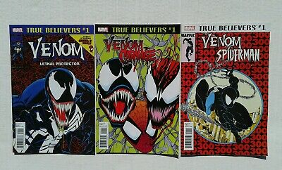 Venom Lethal Protector 1 Marvel Usa True Believers Con Spider Man +++Ottimo+++