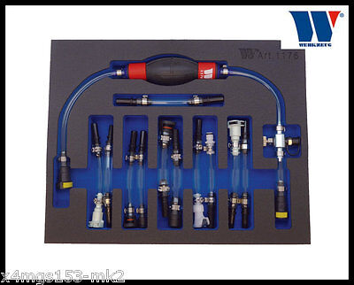 Werkzueg - Diesel Priming & Bleeding Kit, Universal Ford, Rover Opel - 1176