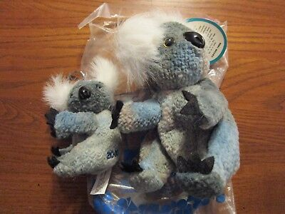 Avon May Birthstone Full Of Beans Gumdrop Koala Bear 2000 W/ Key Chain Baby 1999