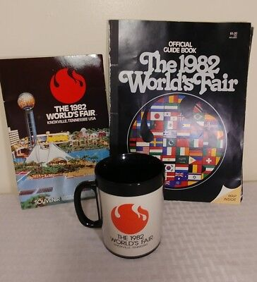 Worlds Fair 1982 Knoxville TN Souvenir Lot 2 Brochures and Insulated Cup Mug