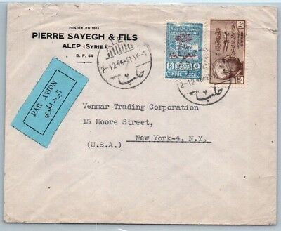 GOLDPATH: Syria cover, 1946, To NYC USA, CBHW_05_03
