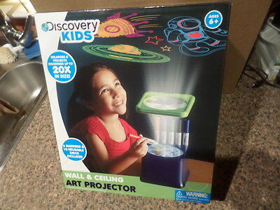 new discovery kids wall ceiling art projector toy w markers