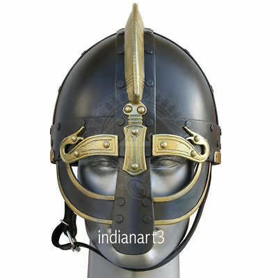 Medieval Wearable Greek Corinthian Helmet Free Leather Liner Knight
