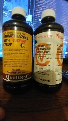 Empty Cough Syrup Bottles