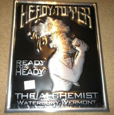 ALCHEMIST BREWING Ready For A Heady Topper METAL TACKER SIGN craft beer brewery