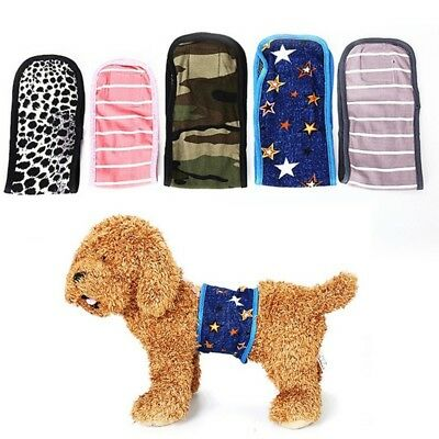 Pet Dogs Reusable Belly Band Diaper Washable Puppy Male Wrap Physiology Band US