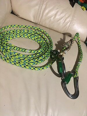 Arborist Lanyard, Moveable Prusik &  Pulley Slack Tender,13 Ft
