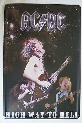 RETRO STYLE TIN SIGN - AC / DC - Highway to Hell