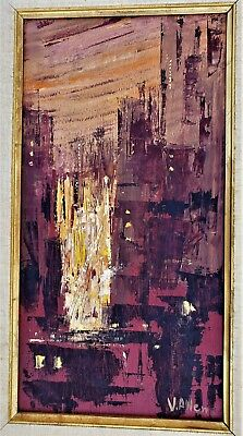 VIOLA ALLEN Signed Painting by Important California Mid-Century Modernist WOMAN