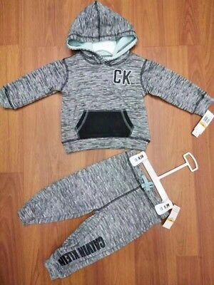 BNWT 2T Authentic CK Calvin Klein Boys Hoodie And Pants 2 Pieces Set/Outfit