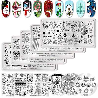 BORN PRETTY Christmas Stamping Ongle Plaque Nail Art Stamp Plates Manucure