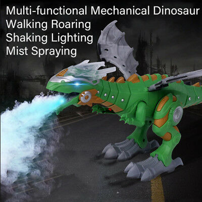 Walking Dragon Toy Fire Breathing Water Spray Dinosaur Christmas Gift For Kids H