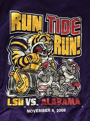 NCAA LSU Tigers Vs Alabama 2008 Mens T Shirt Size Large New Tags Classic Tee