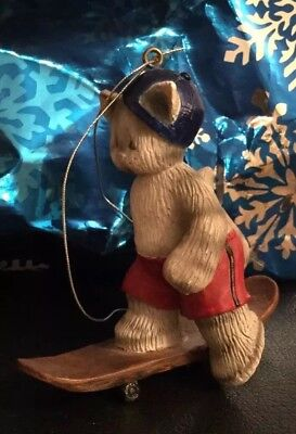 Unique Collectible Cat Skateboarder On Skateboard Christmas Ornament