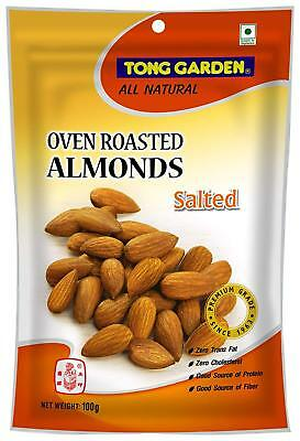 TONG GARDEN ALL NATURAL OVEN ROASTED ALMONDS Lightly Salted Snacks 100 g.