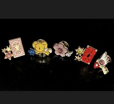 Lot 5 Cardcaptor Sakura Kero Enamel Gold Pin Badge New Japan - US SHIP