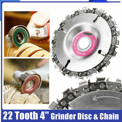 Angle Grinder Disc Cut Tooth Fine Chain Saw 4 Inch 22Tooth Carving Culpting Wood
