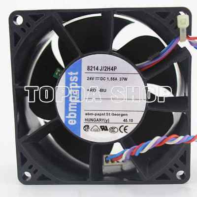 1pc EBMPAPST 8214 J/2H4P Cooling Fan 80*38mm 24V 1.55A 37W 3pin