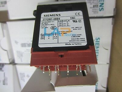 1PC NEW FOR Siemens Contactor 3TF2001-6BB4 3TF20016BB4