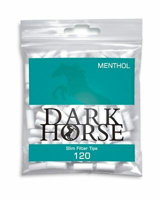 Dark Horse Slim Filter Tips Menthol 6mm 10x(120 Stück - Packung)
