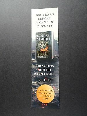 """Bookmark promoting """"Fire And Blood""""  by George R.R. Martin"""
