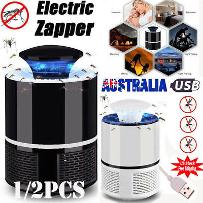 2 Mosquito Insect Killer USB Electric LED Light Fly Bug Zapper Trap Catcher Lamp