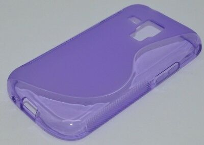 1pcs Purple S-Types TPU Gel CASE Cover For Samsung Galaxy S Duos 2 S7582/S7580