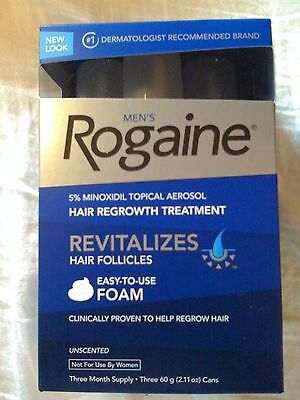 Men's ROGAINE Hair Regrowth Unscented Foam - 3 months supply