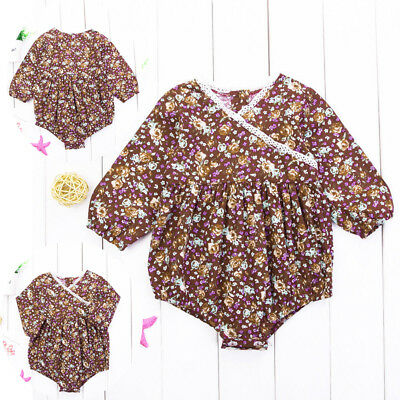 Infant Baby Girl Long Sleeve Romper Bodysuit Playsuit Jumpsuit Outfits Set