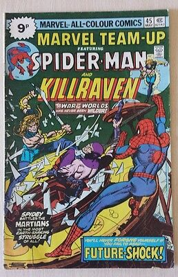 Marvel team up with spider man and killraven may 1976 No 45 comic.