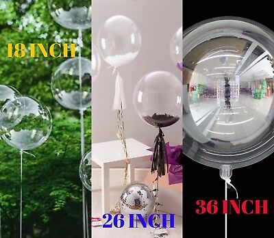 "Christmas PVC 18""/36"" Bobo Balloon Transparent Wedding New Year Party Decor UK"
