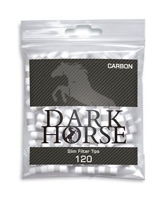 Dark Horse Slim Filter Tips Carbon Aktivkohle 6mm / 5x(120 Stück - Packung)