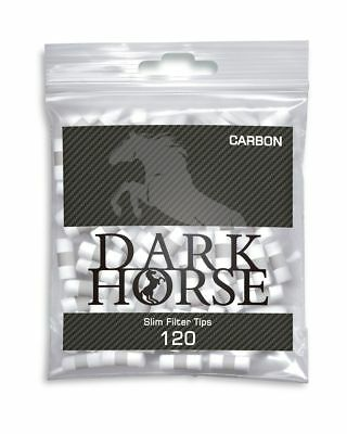 Dark Horse Slim Filter Tips Carbon Aktivkohle 6mm / 10x(120 Stück - Packung)
