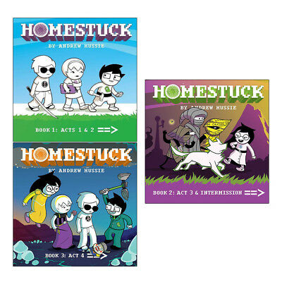 Homestuck Book 1-3 and Act 1-3 Books By Andrew Hussie Collection Set Brand NEW