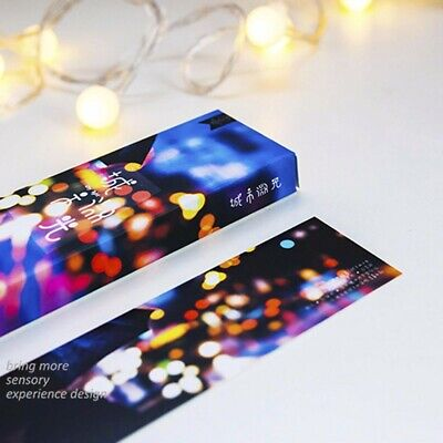 30pcs/Box Cool City Shimmer Paper Bookmark Book Mark Magazine Label Memo Office