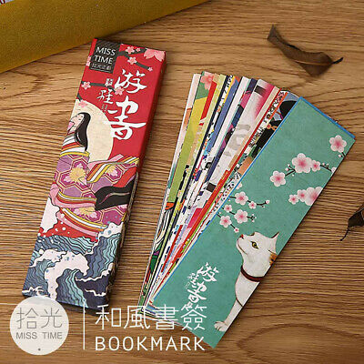 30pcs/Box Japanese Style Bookmark Book Mark Students Magazine Label Memo Office
