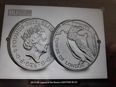 2019 uk legend of the ravens certified bu £5 NOW IN HAND more photos added