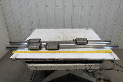 "Rexroth R185343210 57-3/4"" Linear Rails W/2 Bearings From a SW BAS03-22 Lot of 2"