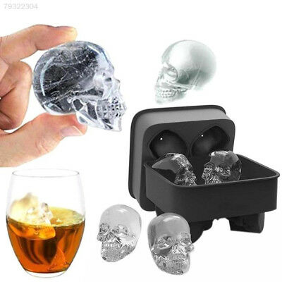 2B60 Hot Skull Silicone Cake Muffin Mold Mould Novelty Ice  Cube Tray Funny