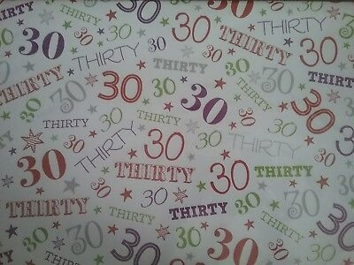 QUALITY BIRTHDAY GIFT WRAPPING PAPER