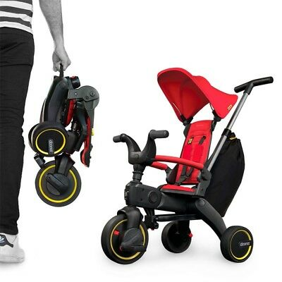 Triciclo Doona Liki Trike S3 Ultra Compacto 10m+ color rojo