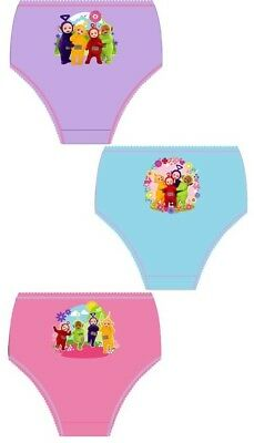 Girls Kids Teletubbies Pants Underwear Briefs Knickers Set 1-5 Years 3 Pack New