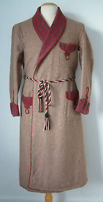 "1940's DRESSING GOWN..MADE IN ENGLAND..36""/38""..PURE WOOL..OUTSTANDING CONDITION"