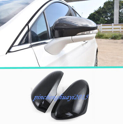2PCS Carbon Fiber Rearview Mirror Cover Trim For Ford Fusion Mondeo 2013-2018