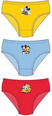 Boys Kids Disney Mickey Mouse Pants Underwear Briefs Knickers Set 1-5 Years New