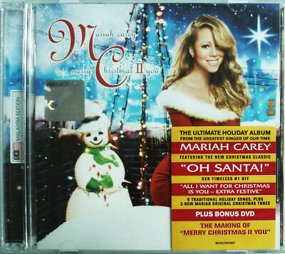 MARIAH CAREY Merry Christmas II You 2010 MALAYSIA Deluxe CD + DVD SET NEW SEALED