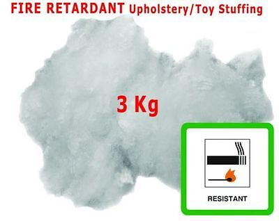 3KG Hollowfibre Polyester Upholstery Cushion Filling Teddy Toy Stuffing Carded