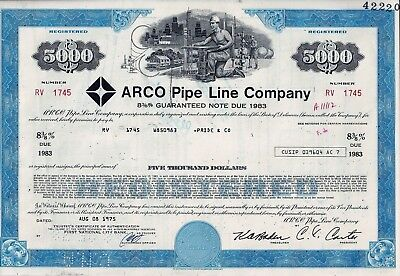 Arco Pipe Line Company, 1975, 8 3/8% Guaranteed Note due 1983 (5.000 $)