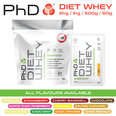 PhD Nutrition Diet Whey Protein 50g 500g 1kg 2kg Weight Loss Shake FREE Delivery